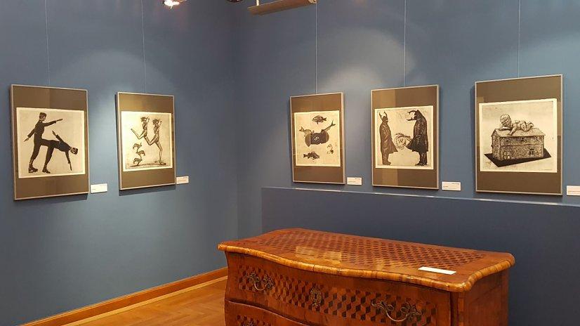 Blick auf meine Arbeiten in der Ausstellung